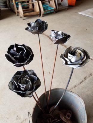 #26 metal roses $18