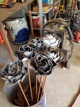 #26 metal flowers $18