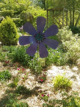 #70 large light flower on stake $55