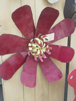 #68 heavy flower wall art $49