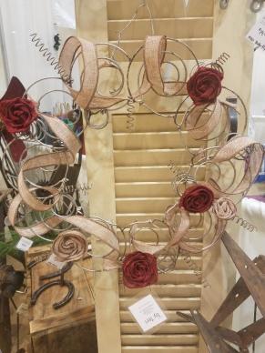 #101 decorated spring wreath $34