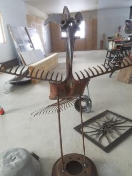 #3 tall rake crane $75