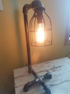 #106 steampunk style light $125